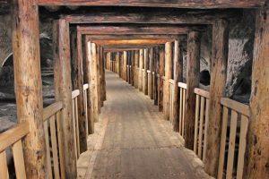 Podziemny korytarz. Fot. Archiwum Skansenu Rzeki Pilicy