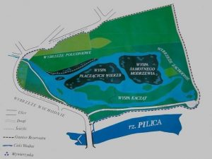 Mapa rezerwatu Niebieskie Źródła. Fot. skansenpilicy.pl