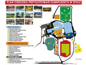Plan Ośrodka Przygotowań Olimpijskich w Spale. Fot. spala.cos.pl